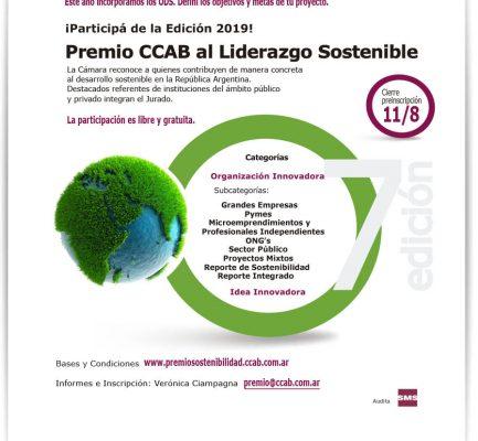 VII edición del Premio CCAB al Liderazgo Sostenible