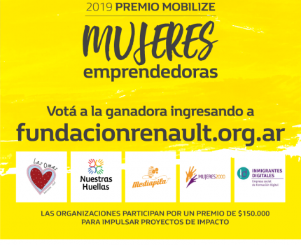 #AuspicioCEADS El premio Mobilize Mujeres Emprendedoras de Fundación Renault tiene 5 proyectos finalistas