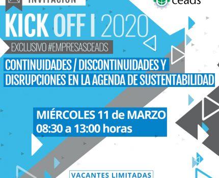 Kick off 2020 «Continuidades/Discontinuidades y Disrupciones en la Agenda de Sustentabilidad»
