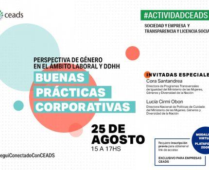 #ActividadCEADS: Perspectiva de Género en el Ámbito Laboral y DDHH: Buenas Prácticas Corporativas