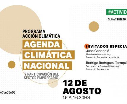 Agenda Climática Nacional y la participación del sector empresario