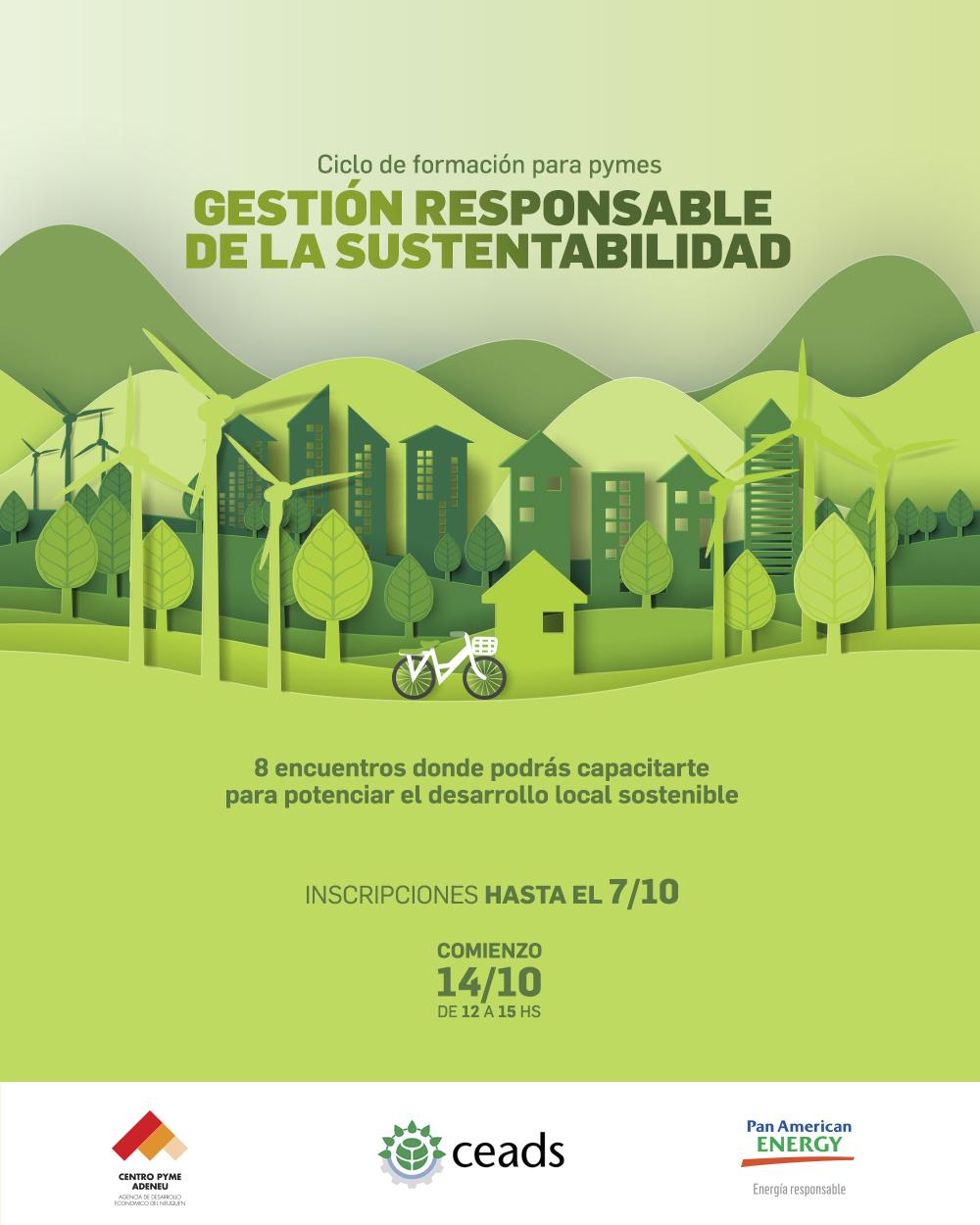 Ciclo de formación para PYMES de Neuquén en Gestión responsable de la sustentabilidad