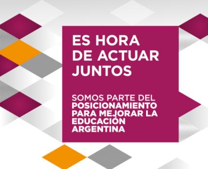 CEADS se suma a más de 80 organizaciones sociales y empresas que presentan una agenda de prioridades para mejorar la educación en Argentina