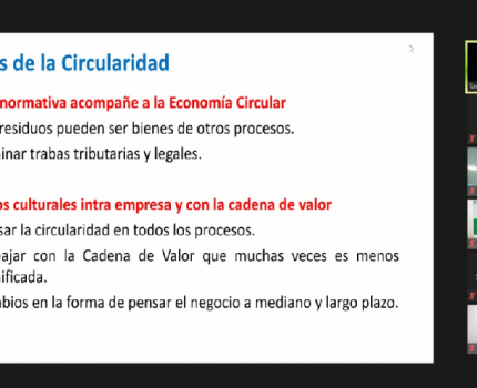 Espacios de Diálogo Economía Circular: Casos Empresarios del Sector Automotriz